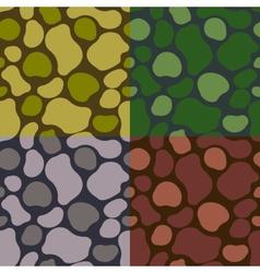 pattern khaki set vector image