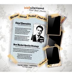 photo book vintage vector image