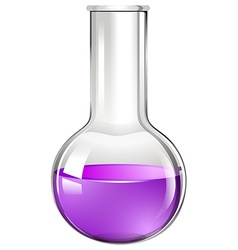 Purple liquid in glass beaker vector image vector image