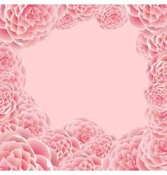 Rose frame vector image vector image
