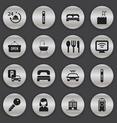 set of 16 editable travel icons includes symbols vector image
