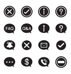 silhouette speech bubble icons chat message vector image vector image
