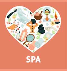Spa procedures promotional poster with vector