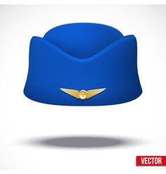 Stewardess hat of air hostess uniform vector image