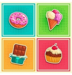 Sweet stickers 1 vector image