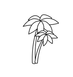 trees palms isolated icon vector image vector image