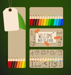 Welcome back to school with sale coupon voucher vector