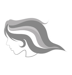 Hair sketch woman face vector