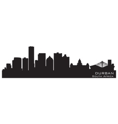 Durban South Africa skyline Detailed silhouette vector image