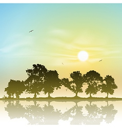 Line of trees vector