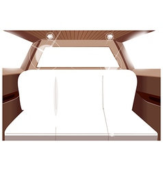 Limo interior seats vector