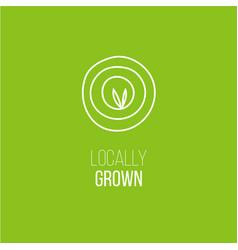 locally grown targeting emblem vector image