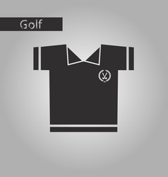Black and white style icon golf shirt vector