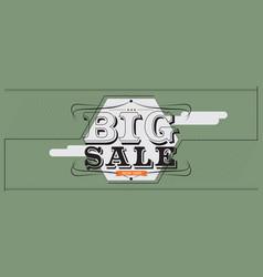 Big sale 6250x2500 pixel banner vintage style vector