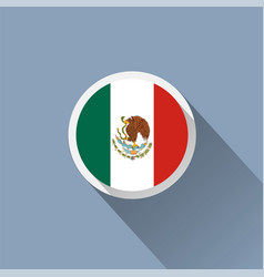 Flag of mexico mexican round flat button vector