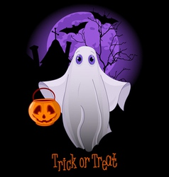 Trick or Treating Ghost vector image