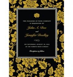 gold ornate rose frame vector image
