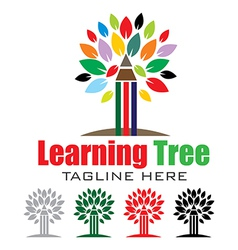 Learning tree logo vector