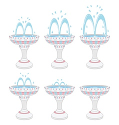 Fountains vector