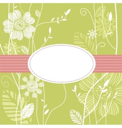 Greeting card floral background vector