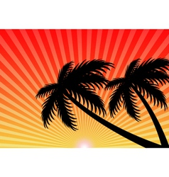 Summer holiday sunset background vector