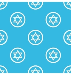 Star of david sign pattern vector