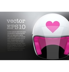 White woman motorcycle helmet vector