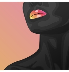 Beauty woman face and neck vector