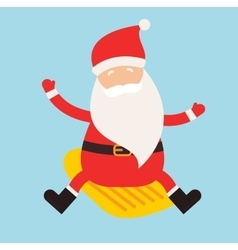 Cartoon extreme Santa winter sport vector image