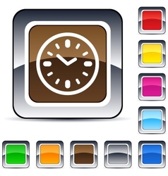 time square button vector image