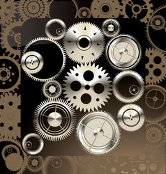 Abstract gear background vector