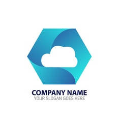 Cloud internet technology logo vector