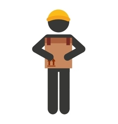 Worker man courier icon vector
