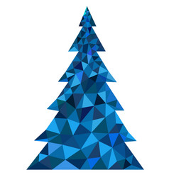 abstract blue polygonal christmas tree vector image vector image