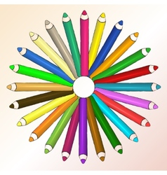 Arts concept with pencils vector image