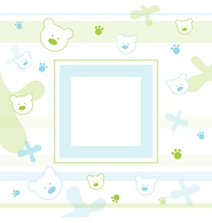 Baby Teddy Frame vector image