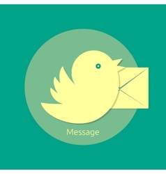 Bird letter message vector image