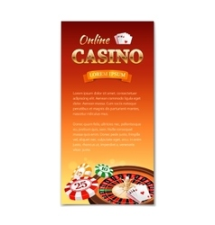 Casino background vertical banner flyer vector