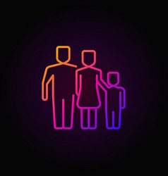 Colorful outline family icon vector