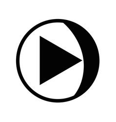 contour video media symbol to play film vector image