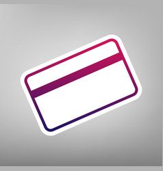 Credit card symbol for download purple vector
