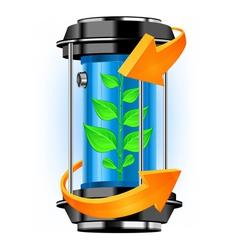 ecology tube vector image