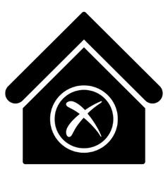 Erase building flat icon vector