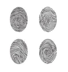 fingerprint set abstract lswirl line decor vector image