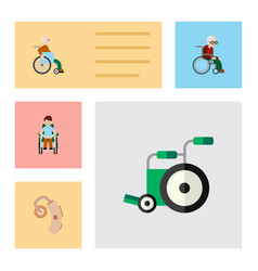 Flat icon disabled set of disabled person vector