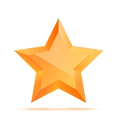 Golden 3d star premium the best reward vector