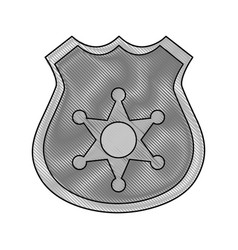 Gray color blurred stripe of police badge with vector