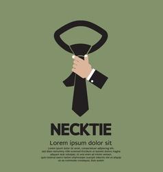 Green necktie vector