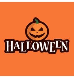 halloween logo pumpkin vector image vector image