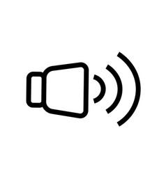 high level volume icon vector image